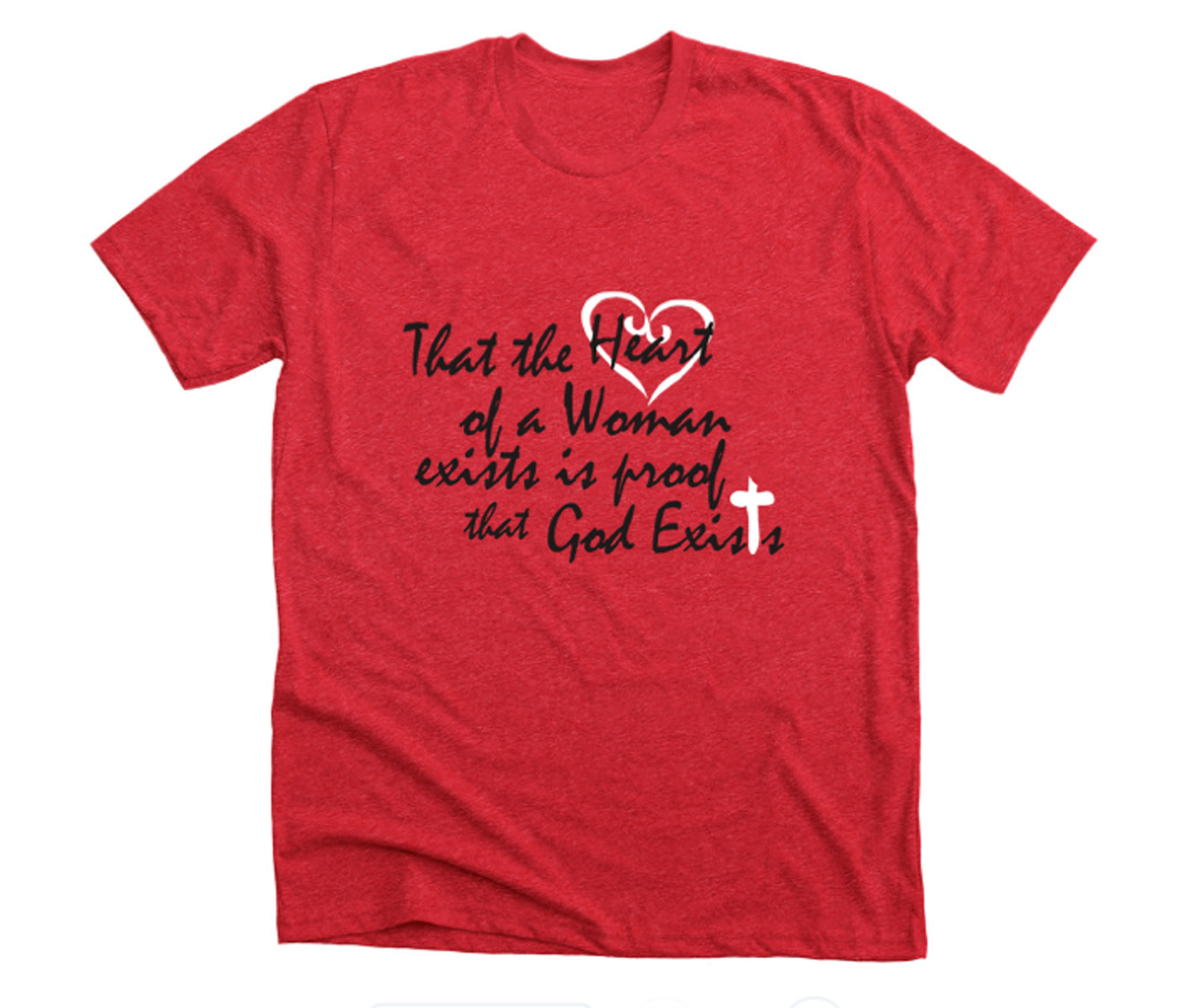 Image of a t-shirt with a message.